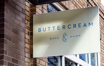 Buttercream Bake Shop Sign
